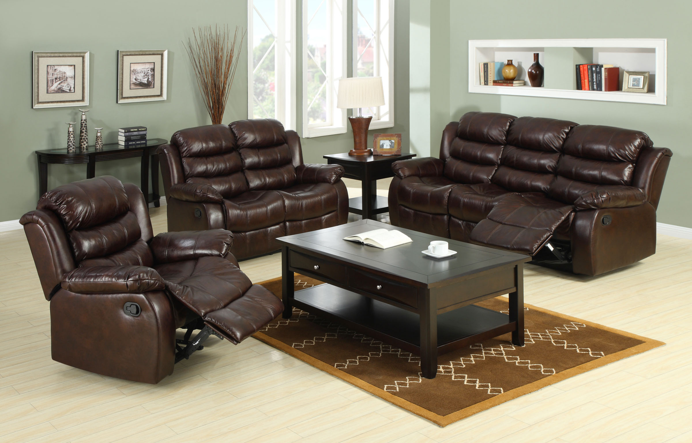 storage reclining product brown microfiber double prolounger loveseat garden seat free wide recliner home