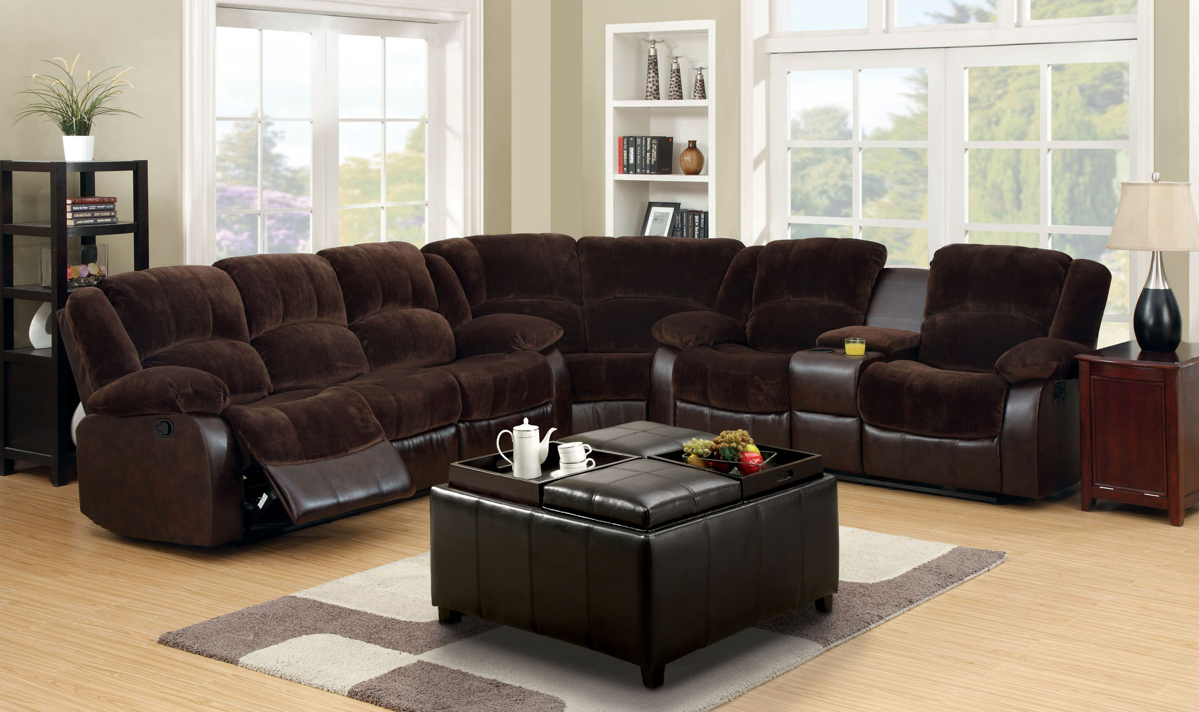 Sectional W Recliner The Imperial Furniture