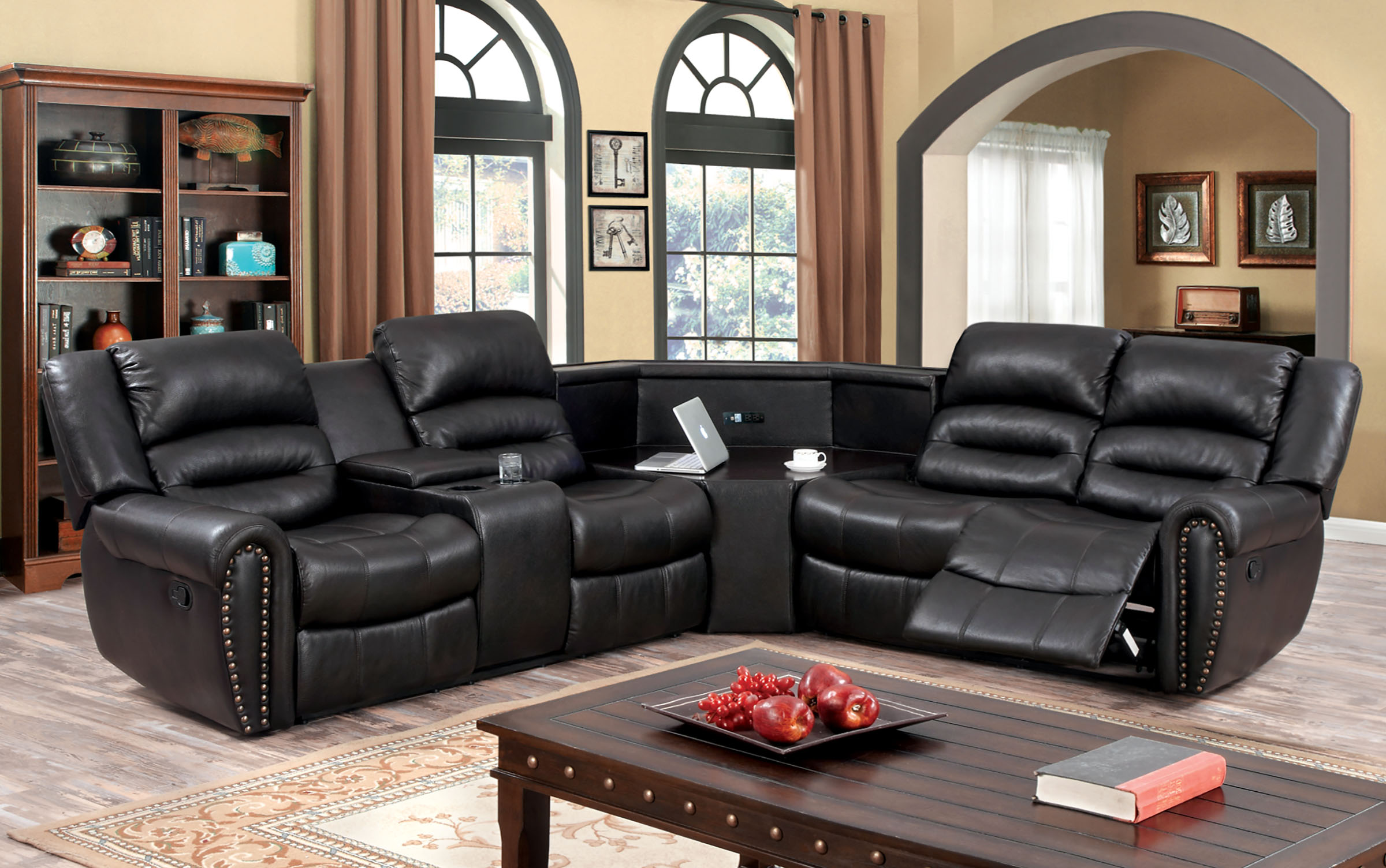 Sectional W Recliner The Imperial Furniture ~ Sofa Bed Sectional With Recliner