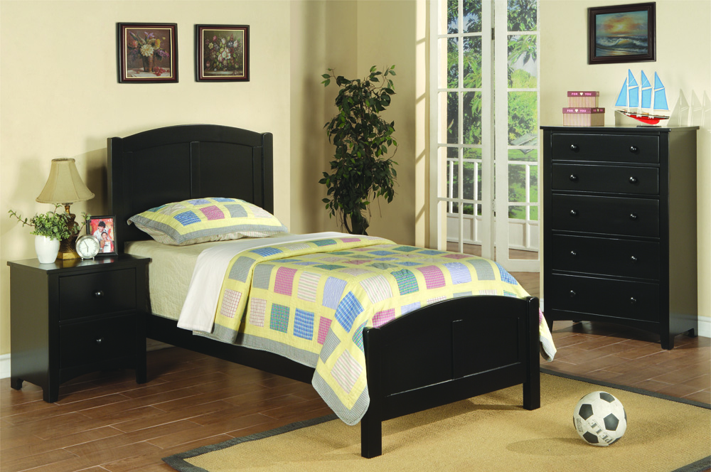 f9208 twin bed black pg 191 - Twin Bed Frame For Sale
