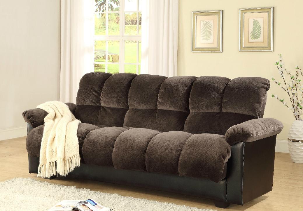 mil7538ch chocolate futon w storage2 futon  u2013 the imperial furniture  rh   theimperialfurniture