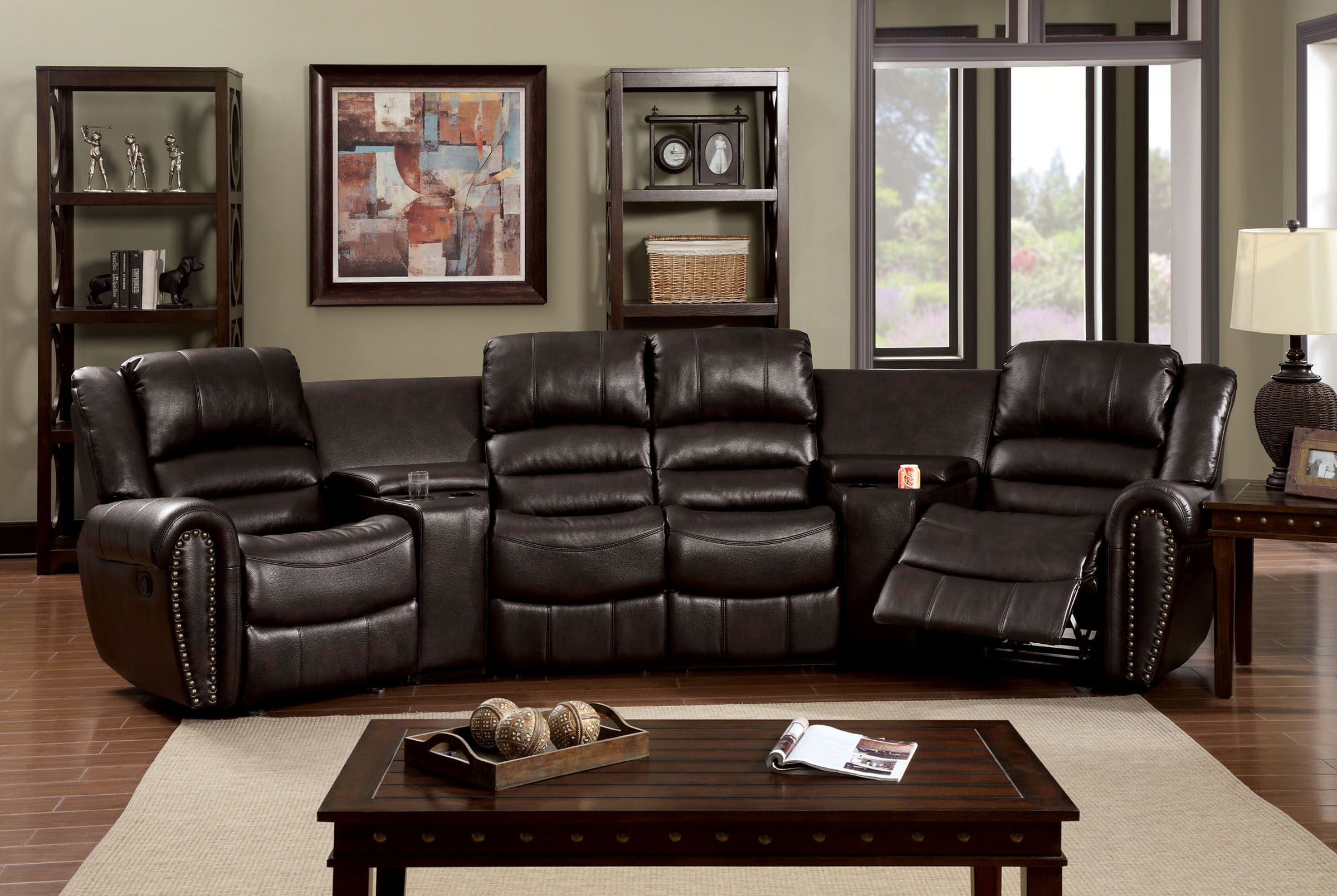 Sectional w Recliner – THE IMPERIAL FURNITURE
